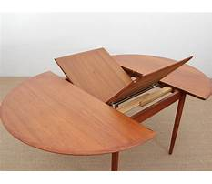Butterfly extension dining table plans Video