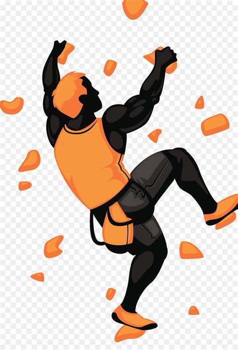 Cartoon Rock Climber