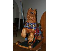 Carved wood horse life size Video