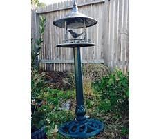 Cast iron bird feeder stand Video