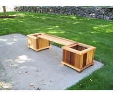 Cedar planter benches Video