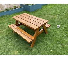 Children\'s wooden picnic table plans Video