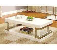 Chrome and white designer coffee table Video