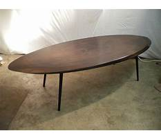 Coffee tables antique oval wood Video