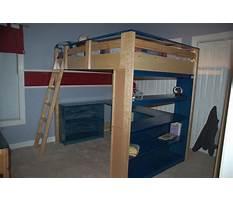 College loft bed plans Video