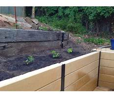 Composite landscape timber retaining wall Video