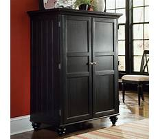 Computer armoire black Video