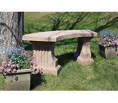 Concrete garden benches clearance Video
