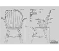 Continuous arm windsor chair plans Video