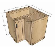Corner base cabinet plans Video