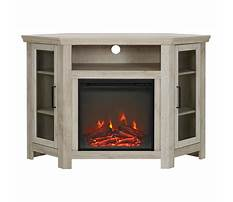Corner fireplace tv stand target Video