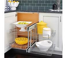 Corner kitchen cabinet organizer Video