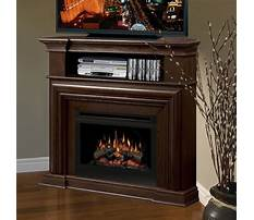Corner media cabinet with fireplace Video