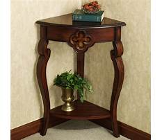 Corner tables for hallway Video