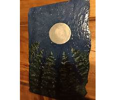 Craft painting on slate Video