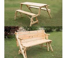 Crazy cool picnic table garden bench Video
