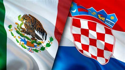 Croatia Mexico Flags