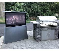 Custom outdoor tv lift cabinets Video