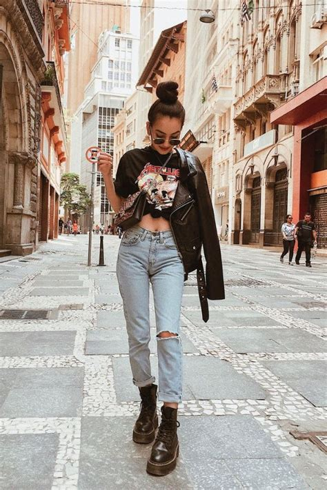 Cute Fall Outfits With Combat Boots