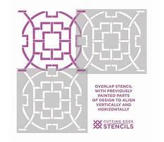 Cutting edge stencils trellis pattern Video