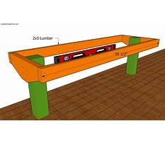 Deck bench plans Video