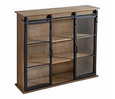 Decorative bookcase with doors Video