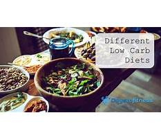 Different low carb diets Video