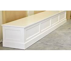 Dining table bench seat with storage Video