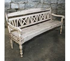 Distressed bench with back Video