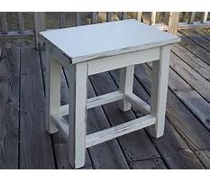 Distressed wood end tables Video