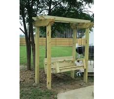 Diy arbor swing plans Video