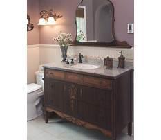 Diy bathroom vanity from old dresser Video