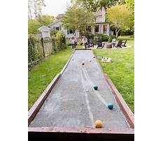 Diy bocce court Video