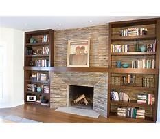 Diy bookshelf around fireplace Video