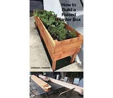 Diy build planter box Video