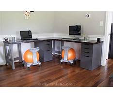 Diy corner desk for two Video