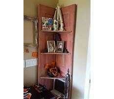 Diy corner shelf door Video
