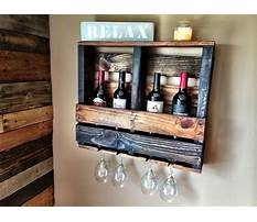 Diy pallet wine rack with glass holder Video