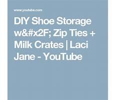 Diy shoe storage w zip ties milk crates laci jane Video