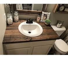 Diy wood countertop bathroom vanity Video