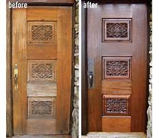 Diy wood door refinishing Video