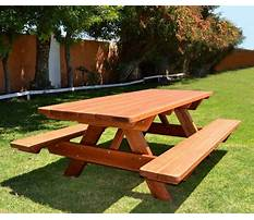 Diy wooden picnic bench plans Video