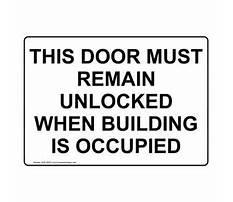 Door must remain unlocked building occupied Video