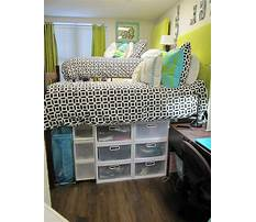Dorm room organization storage Video