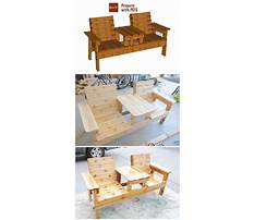 Double chair bench with table plans Video
