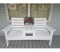 Double chair bench with table Video