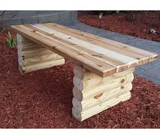 Easy patio bench plans Video