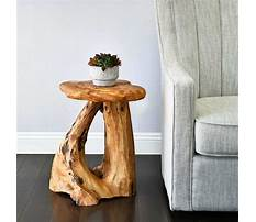End table tree trunk Video
