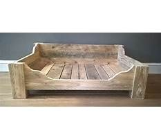 Etsy wood dog bed Video