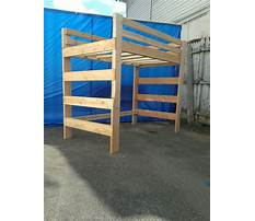 Extra long loft bed plans Video